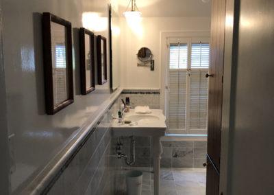 Grey Bathroom with Custom Tile Work