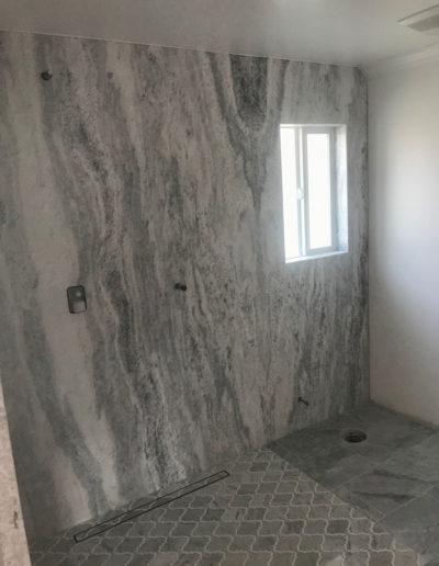 large grey shower custom built