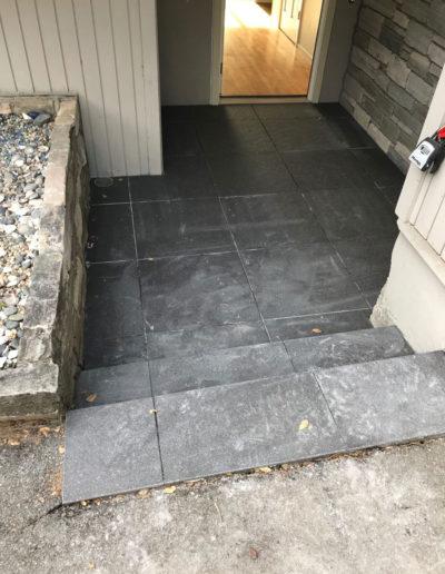 outdoor view of dark tile