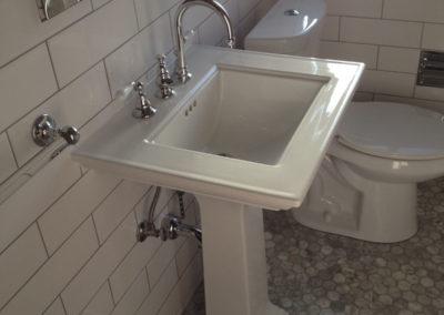 Simple White Tile Bathroom Remodel