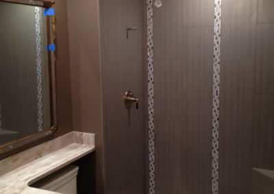 Simple Grey Shower Remodel